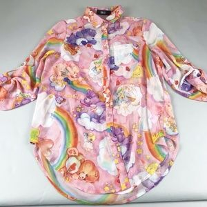 Iron Fist Clouds of Caring Care Bear Blouse XS